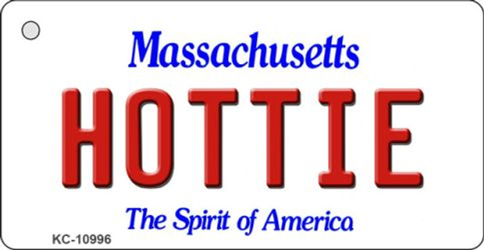 Hottie Massachusetts State License Plate Key Chain KC-10996