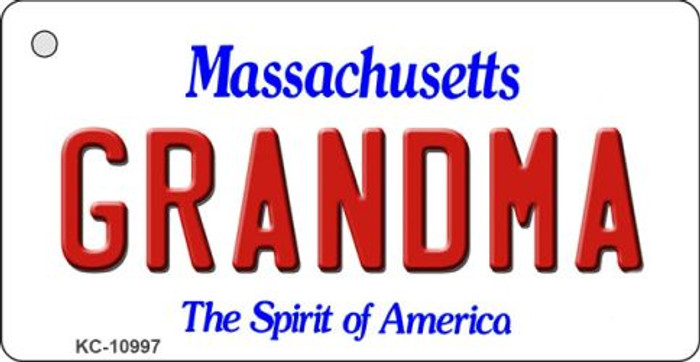 Grandma Massachusetts State License Plate Key Chain KC-10997