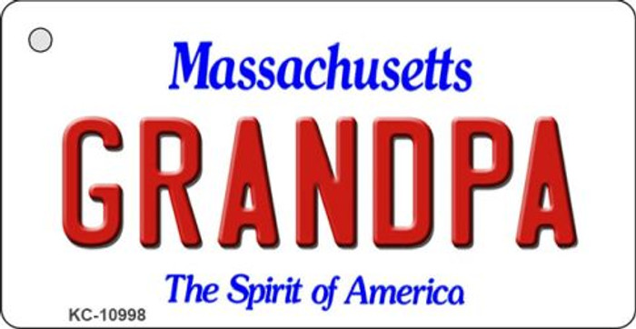 Grandpa Massachusetts State License Plate Key Chain KC-10998