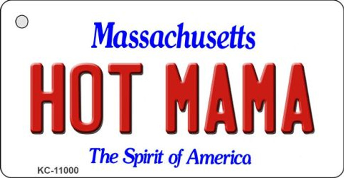 Hot Mama Massachusetts State License Plate Key Chain KC-11000