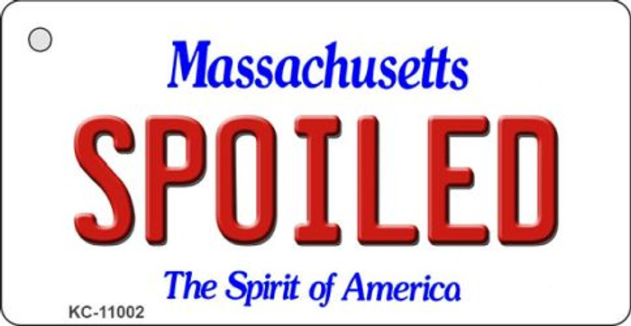 Spoiled Massachusetts State License Plate Key Chain KC-11002