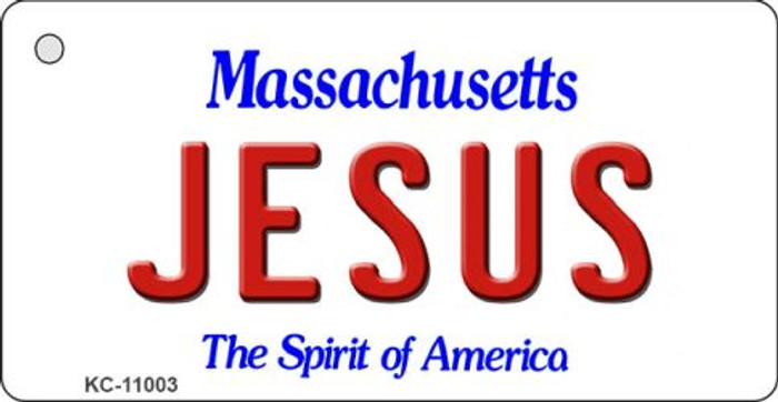 Jesus Massachusetts State License Plate Key Chain KC-11003