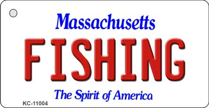 Fishing Massachusetts State License Plate Key Chain KC-11004