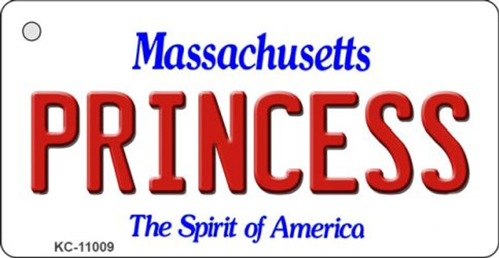 Princess Massachusetts State License Plate Key Chain KC-11009