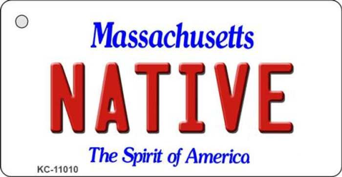 Native Massachusetts State License Plate Key Chain KC-11010