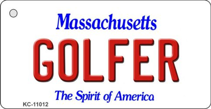 Golfer Massachusetts State License Plate Key Chain KC-11012