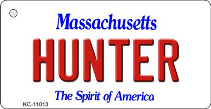 Hunter Massachusetts State License Plate Key Chain KC-11013