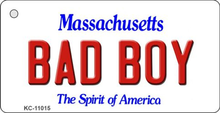 Bad Boy Massachusetts State License Plate Key Chain KC-11015