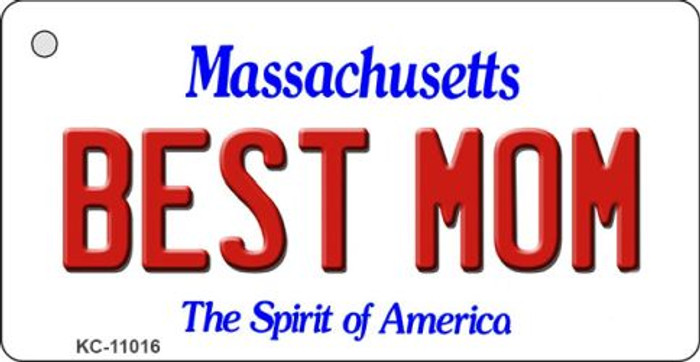 Best Mom Massachusetts State License Plate Key Chain KC-11016