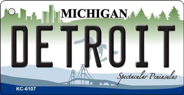 Detroit Michigan State License Plate Novelty Key Chain KC-6107