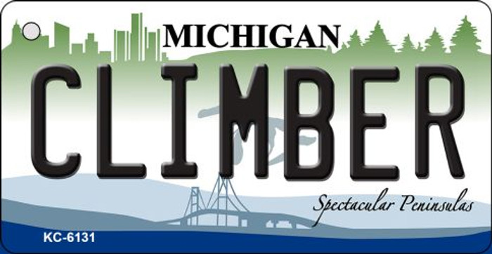 Climber Michigan State License Plate Novelty Key Chain KC-6131