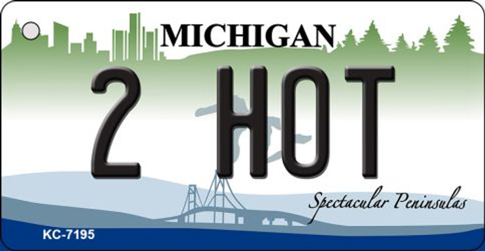 2 Hot Michigan State License Plate Novelty Key Chain KC-7915