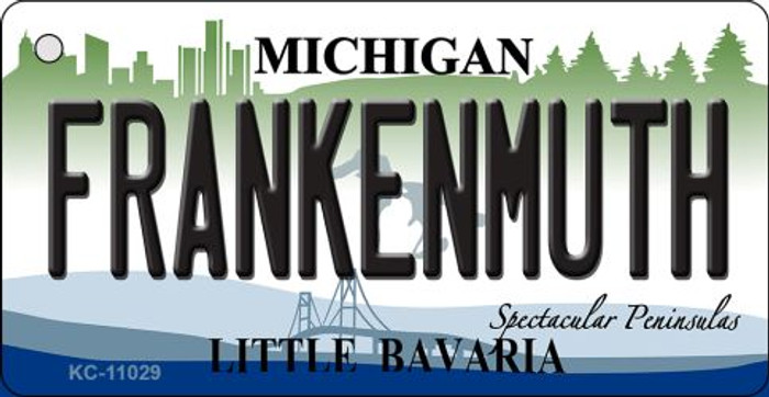 Frankenmuth Michigan State License Plate Novelty Key Chain KC-11029