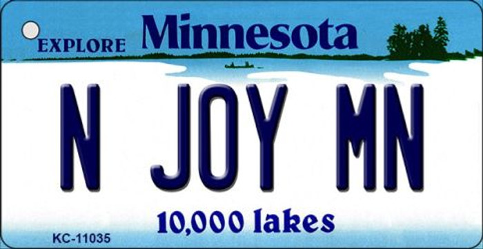 N Joy MN Minnesota State License Plate Novelty Key Chain KC-11035