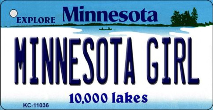 Minnesota Girl Minnesota State License Plate Novelty Key Chain KC-11036