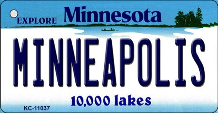Minneapolis Minnesota State License Plate Novelty Key Chain KC-11037