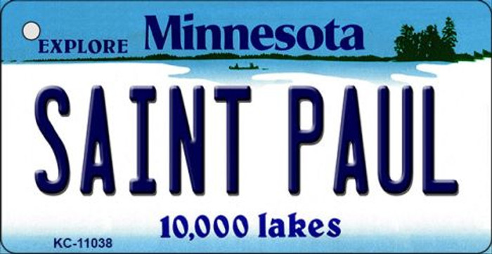 Saint Paul Minnesota State License Plate Novelty Key Chain KC-11038