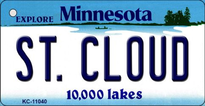 St Cloud Minnesota State License Plate Novelty Key Chain KC-11040