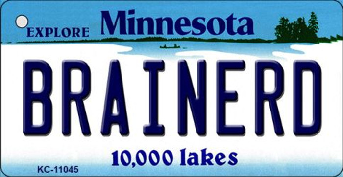 Brainerd Minnesota State License Plate Novelty Key Chain KC-11045