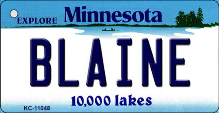 Blaine Minnesota State License Plate Novelty Key Chain KC-11048