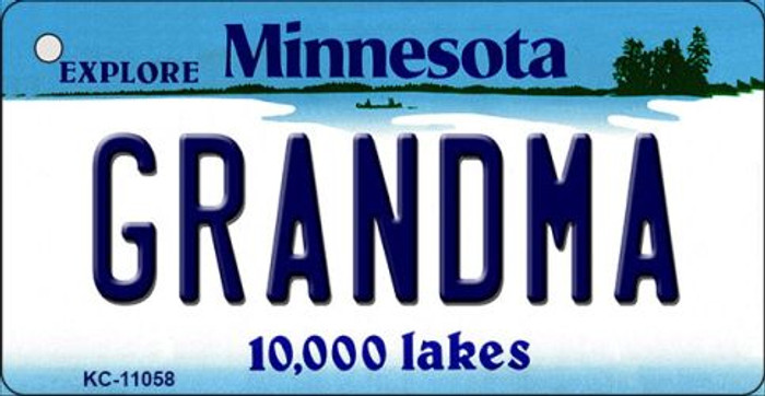 Grandma Minnesota State License Plate Novelty Key Chain KC-11058