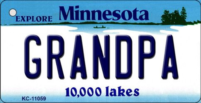 Grandpa Minnesota State License Plate Novelty Key Chain KC-11059