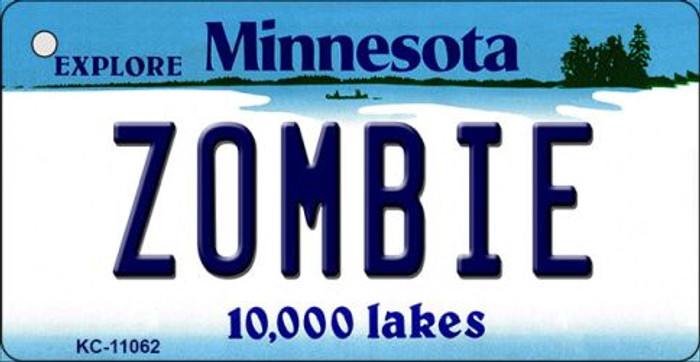 Zombie Minnesota State License Plate Novelty Key Chain KC-11062
