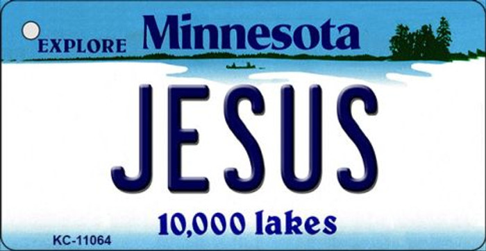 Jesus Minnesota State License Plate Novelty Key Chain KC-11064