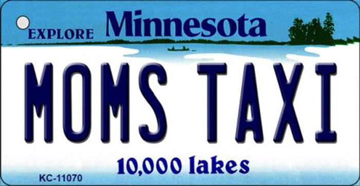 Moms Taxi Minnesota State License Plate Novelty Key Chain KC-11070