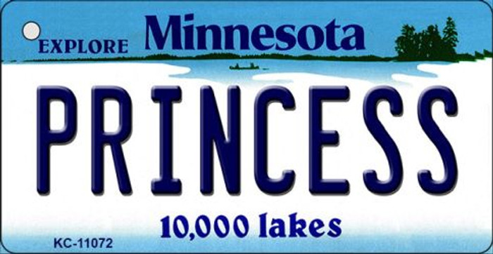 Princess Minnesota State License Plate Novelty Key Chain KC-11072