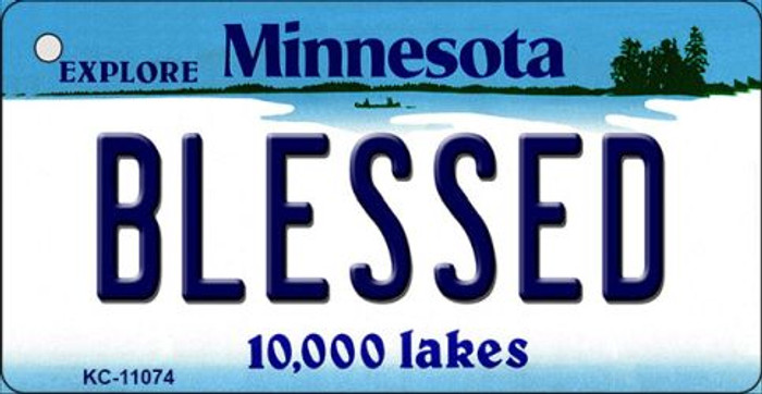 Blessed Minnesota State License Plate Novelty Key Chain KC-11074