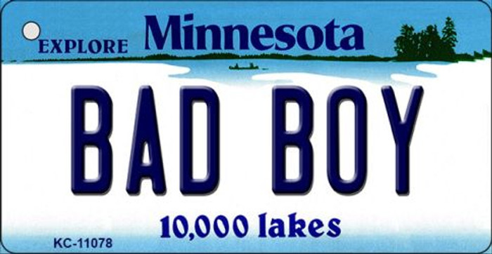 Bad Boy Minnesota State License Plate Novelty Key Chain KC-11078