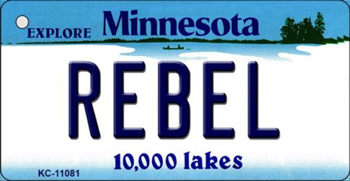 Rebel Minnesota State License Plate Novelty Key Chain KC-11081