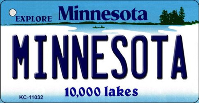Minnesota State License Plate Novelty Key Chain KC-11032