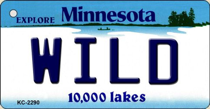 Wild Minnesota State License Plate Key Chain KC-2290