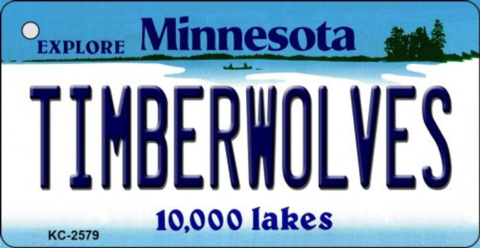 Timberwolves Minnesota State License Plate Key Chain KC-2579