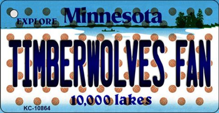 Timberwolves Fan Minnesota State License Plate Key Chain KC-10864