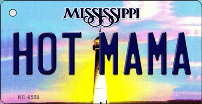 Hot Mama Mississippi State License Plate Key Chain KC-6550