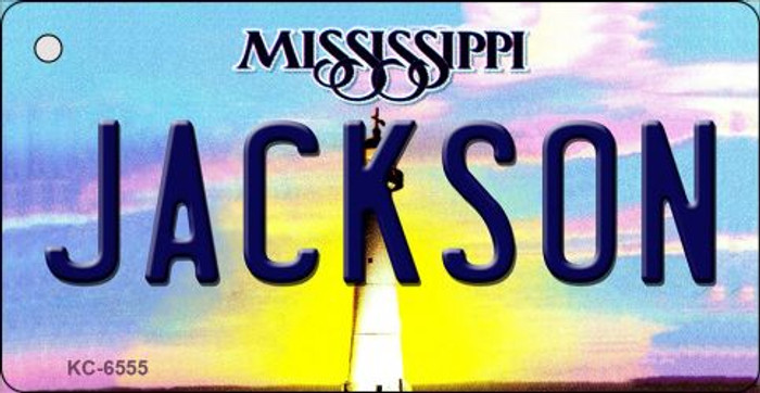 Jackson Mississippi State License Plate Key Chain KC-6555