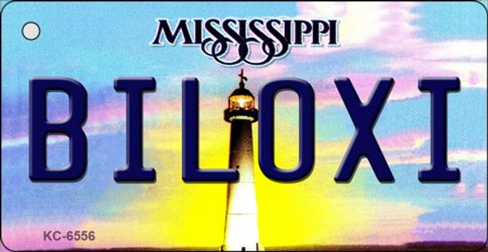 Biloxi Mississippi State License Plate Key Chain KC-6556