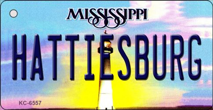 Hattiesburg Mississippi State License Plate Key Chain KC-6557