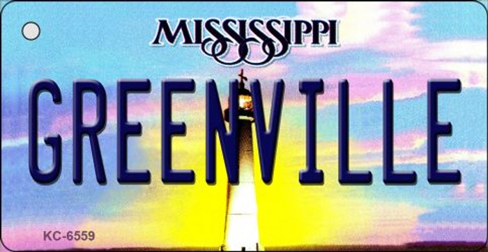 Greenville Mississippi State License Plate Key Chain KC-6559