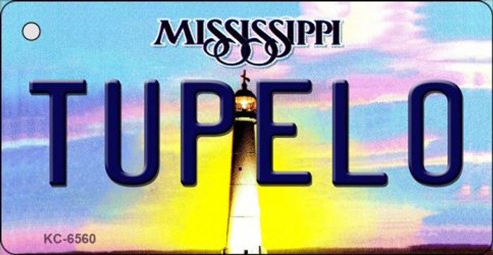 Tupelo Mississippi State License Plate Key Chain KC-6560