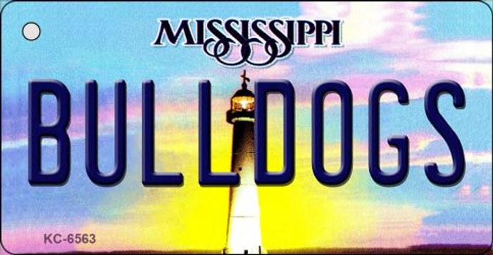 Bulldogs Mississippi State License Plate Key Chain KC-6563