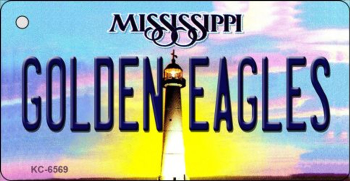 Golden Eagles Mississippi State License Plate Key Chain KC-6569