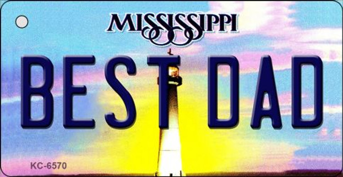 Best Dad Mississippi State License Plate Key Chain KC-6570