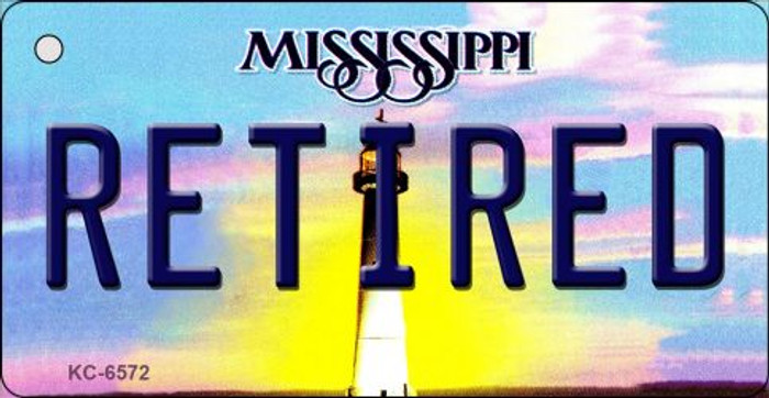 Retired Mississippi State License Plate Key Chain KC-6572