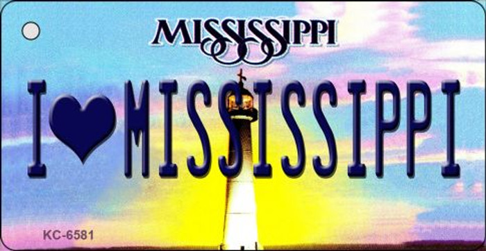 I Love Mississippi State License Plate Key Chain KC-6581