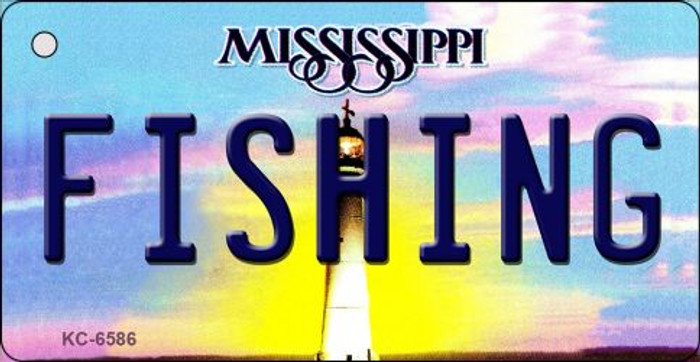 Fishing Mississippi State License Plate Key Chain KC-6586