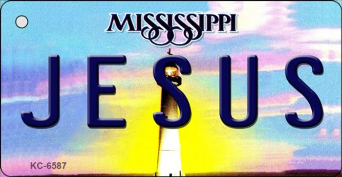 Jesus Mississippi State License Plate Key Chain KC-6587